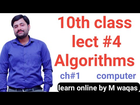 Algorithms || what is Algorithm? || 10th class computer chapter no 1