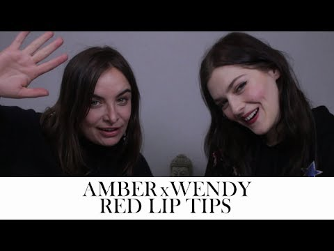 Get the perfect red lip with Amber Anderson  Wendy Rowe