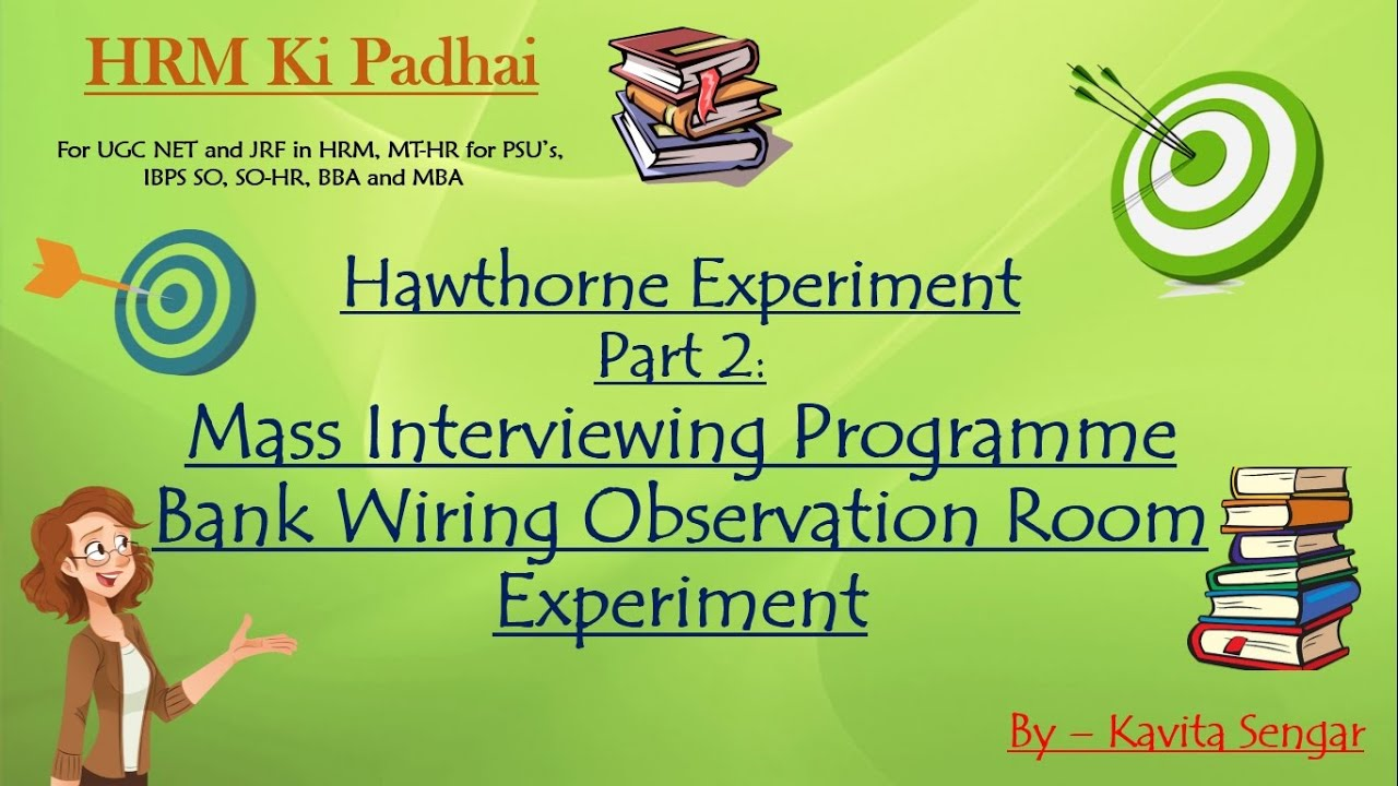 Hawthorne Experiment Part 2  Mass Interviewing Programme