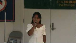 Nicole Singing the Philippine National Anthem (Lupang Hinirang)