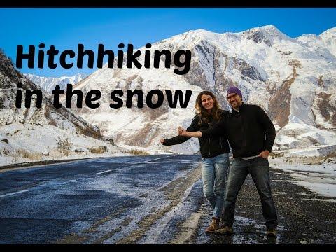Hitchhiking in the snow - Caucasus Mountains - Georgia