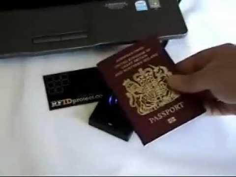 RFID Protect anti-skimming leather UK passport holder ...