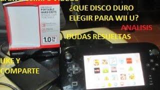 QUE DISCO DURO ELEGIR PARA WII U