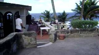 Arriving at the Roudhouse Hotel & Restaurant in Bathsheba, Barbados