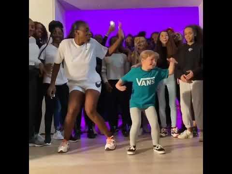 Young girl slays afrodance