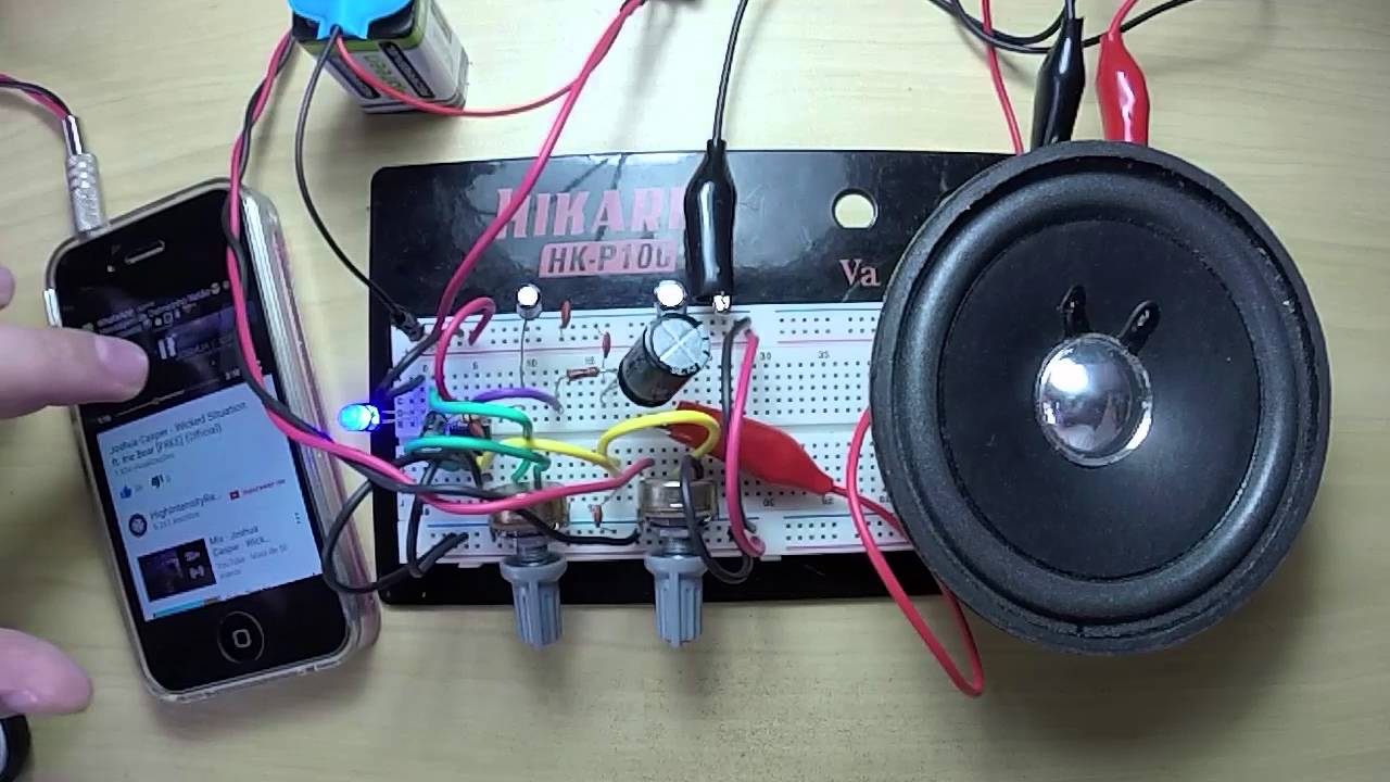 Preview Lm386 Circuit W Volume Gain Power Led Youtube Stereo Audio Amplifier 595x476
