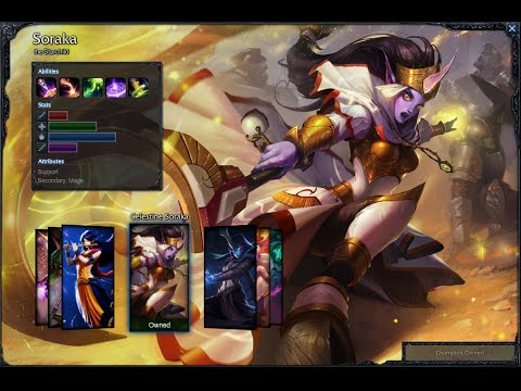 Celestine Soraka Skin Spotlight Gameplay 1080p HD League Of Legends