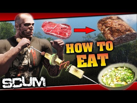 SCUM - EASY METABOLISM and ENERGY GAIN! Learn how to eat! GUIDE