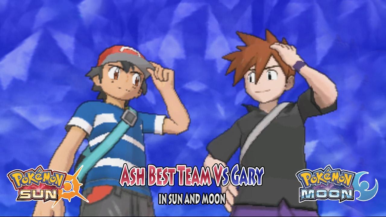 Pokemon Sun And Moon Trainer Ash Vs Gary Oak Ash Ketchum Best