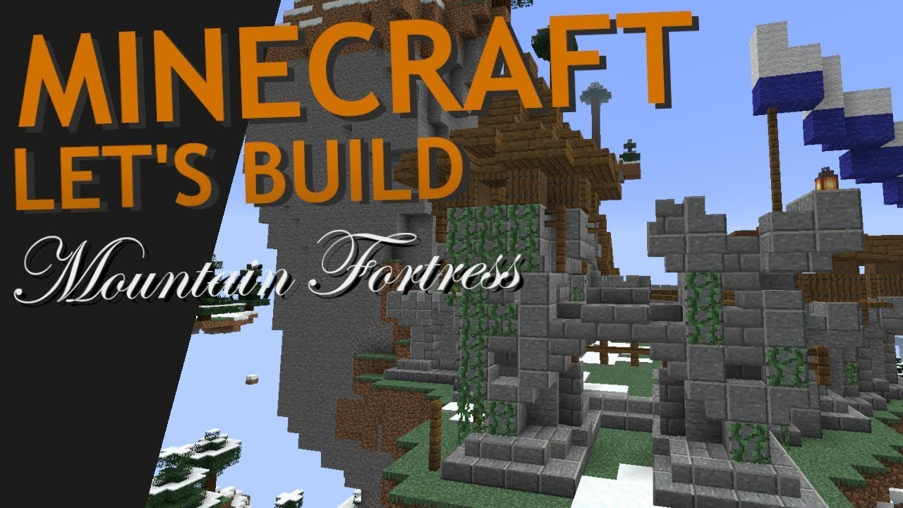 Minecraft Mountain Fortress Build Part 2