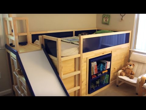 Coolest Dad Ever Builds Amazing IKEA Hack Bed | What's Trending Now