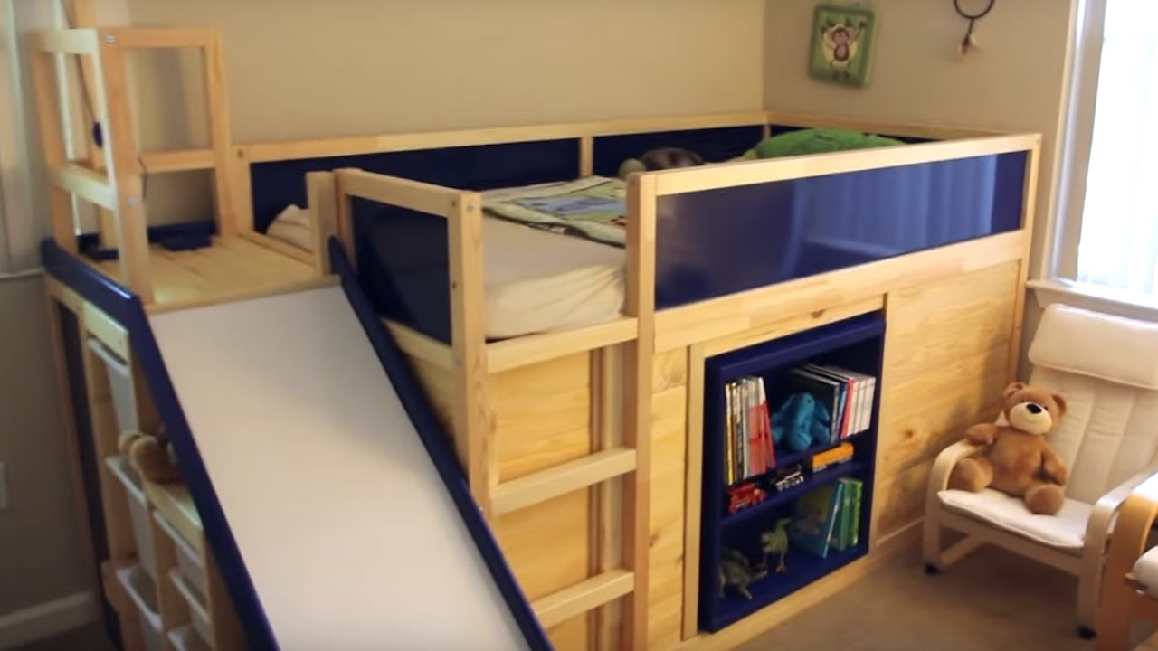 Coolest Bed Ever coolest dad ever builds amazing ikea hack bed | what's trending