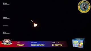 """Shriek Freak! 500 Gram Cake by """"Bright Star Fireworks"""" NEW FOR 2021!"""