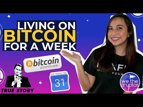 Living On Bitcoin For A Week