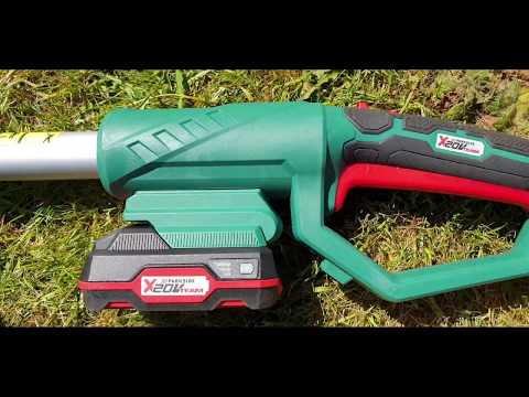 Lidl Parkside Extendable Cordless Hedge Trimmer (unboxing and Demo)