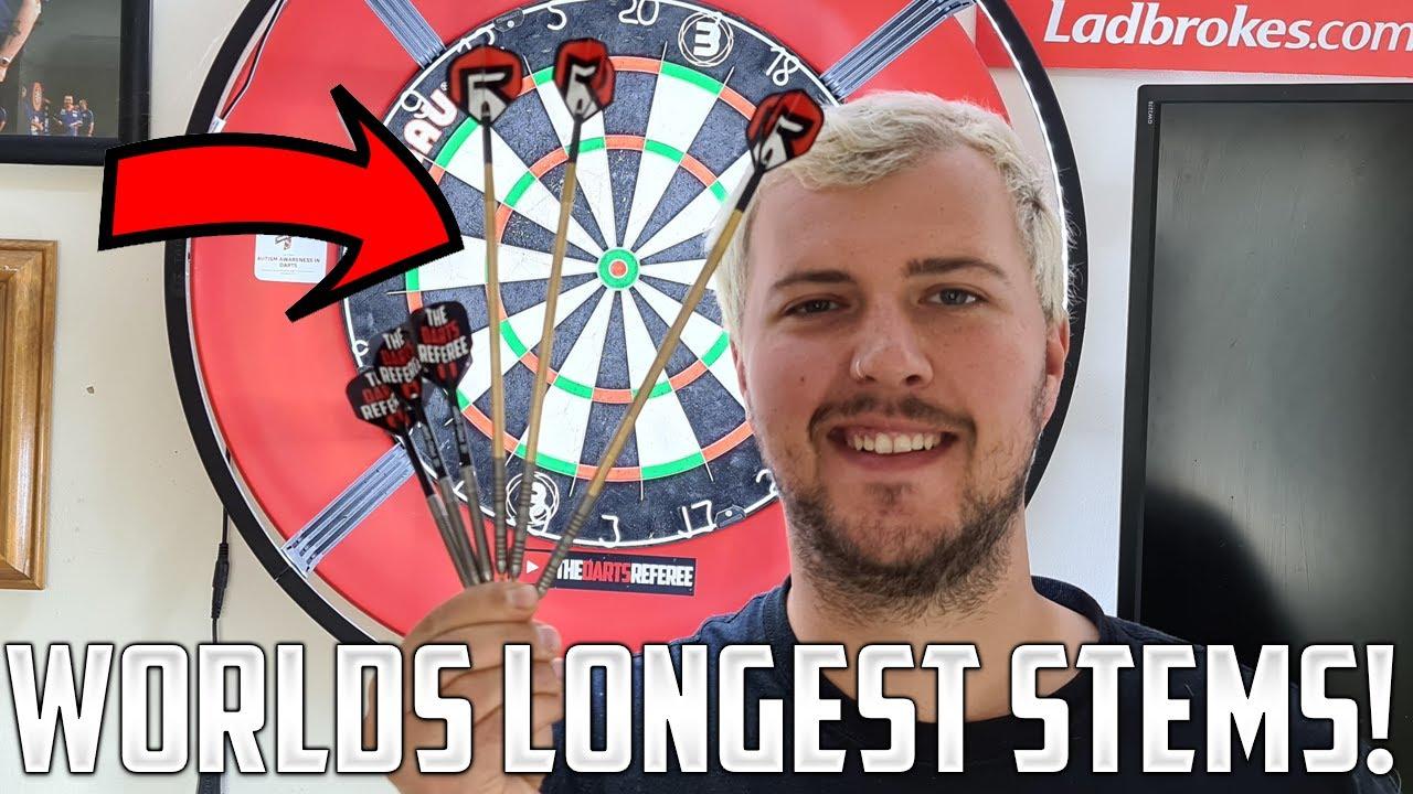 THE WORLD'S LONGEST DARTS STEMS!