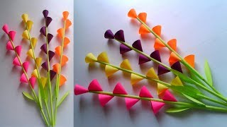 Easy and beautiful paper flower making | DIY paper flower craft || SUNIL CREATION