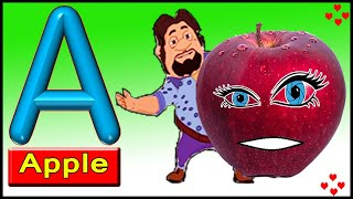 A for Apple b for Ball, English Varnamala, ABC Phonics Song for Children, HINDI ALPHABETS