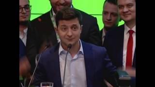 Обращение будущего президента Зеленского (с переводом на русский)