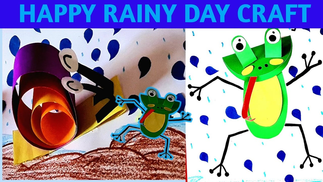 Rainy season activity for kids/rainy season craft ideas/animal during rain