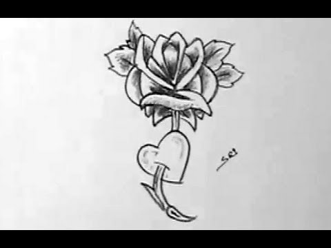 How To Draw A Beautiful Simple Rose Flower Yzarts Youtube
