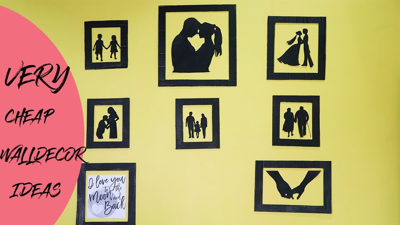 SILHOUETTE WALL DECOR IDEA | BEST COUPLE WALL DECOR | - YouTube