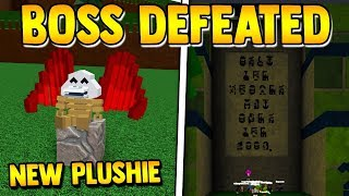 ZEG BOSS *DEFEATED* (new plushie)🏆 | Build a boat for Treasure ROBLOX