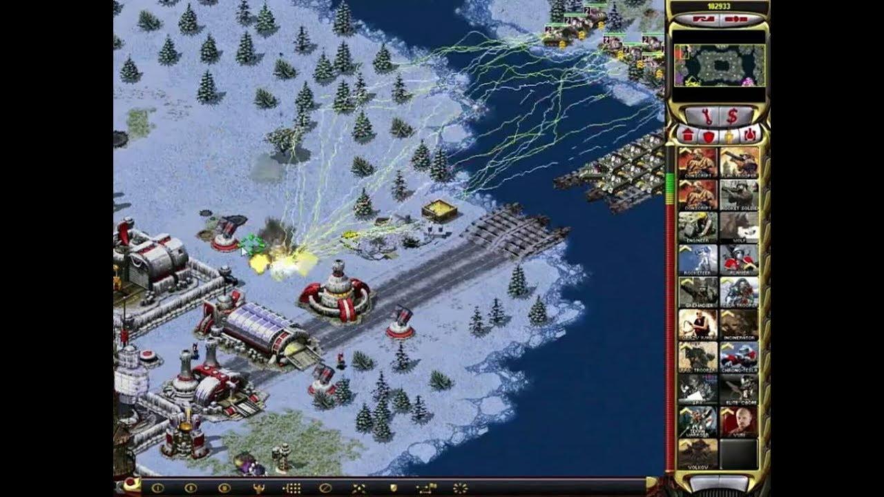 Download Red Alert 2 - 1 vs 7 The Brutal Enemy Strategy! Tesla Tank upgrade