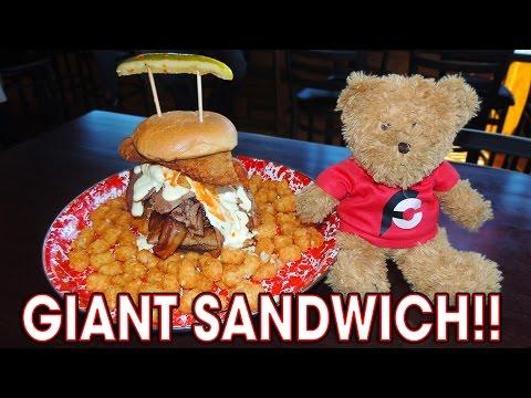 Jethro's Giant Sandwich Challenge from Man vs Food!!