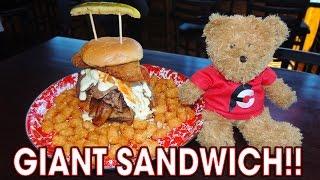 Jethro's Adam Emmenecker Sandwich Challenge from Man vs Food!!