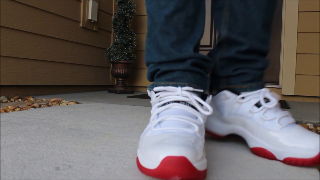 307ddc4da10 Cherry 11 Red bottom Unboxing On-foot - YouTube
