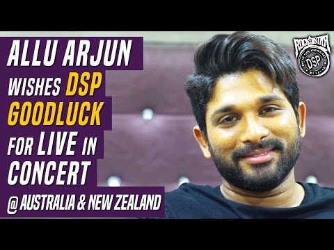 Allu Arjun wishes DSP All The Best For Live in Concert @ Australia & New Zealand || #DSPAuNzTOUR