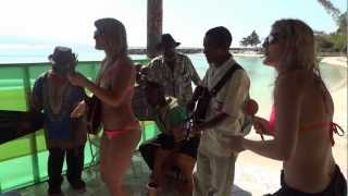 "Singing ""Don't Worry"" with some Jamaicans in Montego Bay, Jamaica..."