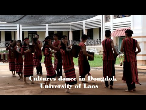 Beautiful Dance of lao University Students, Vientiane, Laos