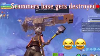 Fortnite save the world scammers base gets destroyed