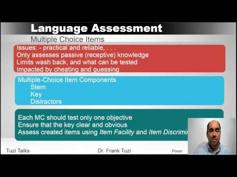 Language Assessment:  Designing a Language Test