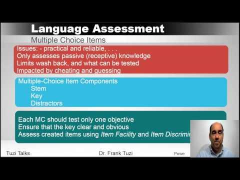 Language Assessment:  Designing a Language Test