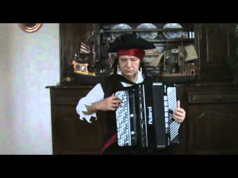 Accordéon musette : accordéon solo He's a Pirate du film Pirates des Caraïbes