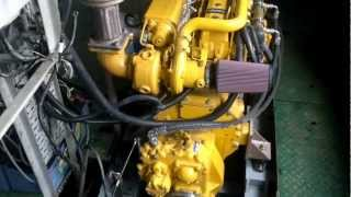 Two marine John Deere engines 6068TFM75 working on boat