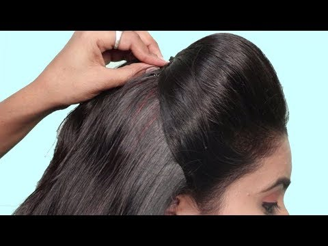 4 Easy Puff Hairstyles | How to Make Perfect Puff Hairstyle | Quick Hairstyles for Medium Thin Hair