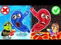 Lion Family Favorite Food - Hot vs Cold Challenge   Cartoon for Kids