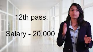 12th pass private job   salary - 20,000   Direct interview no charge