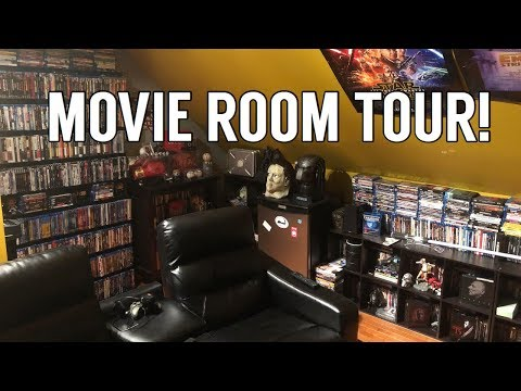 Entire Movie Room and Home Theater Tour!  | Blu-rays, 4Ks, and More!