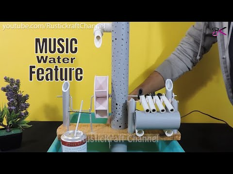 Awesome Water Wheel & Musical Fountain making at home