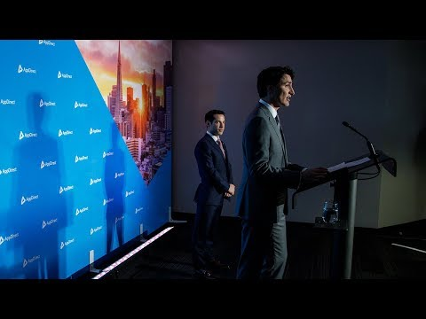 PM Trudeau delivers remarks at the AppDirect offices in San Francisco, California