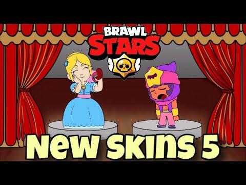 BRAWL STARS ANIMATION NEW SKINS IDEAS #5 PIPER \u0026 SANDY
