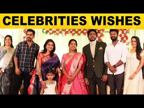 Tamil Cinema Celebrities at Kiran & Kirthana's Wedding Repection | Vijay Antony, shanthanu, Neelima
