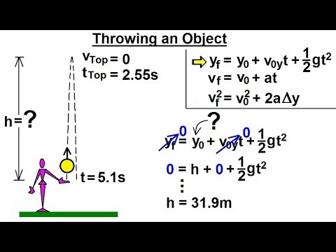 Physics - Mechanics: Additional Motion Examples (9 of 12) Throwing an Object
