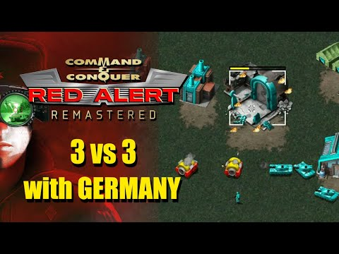 3v3 With Germany: Command And Conquer Red Alert Remastered Online Multiplayer