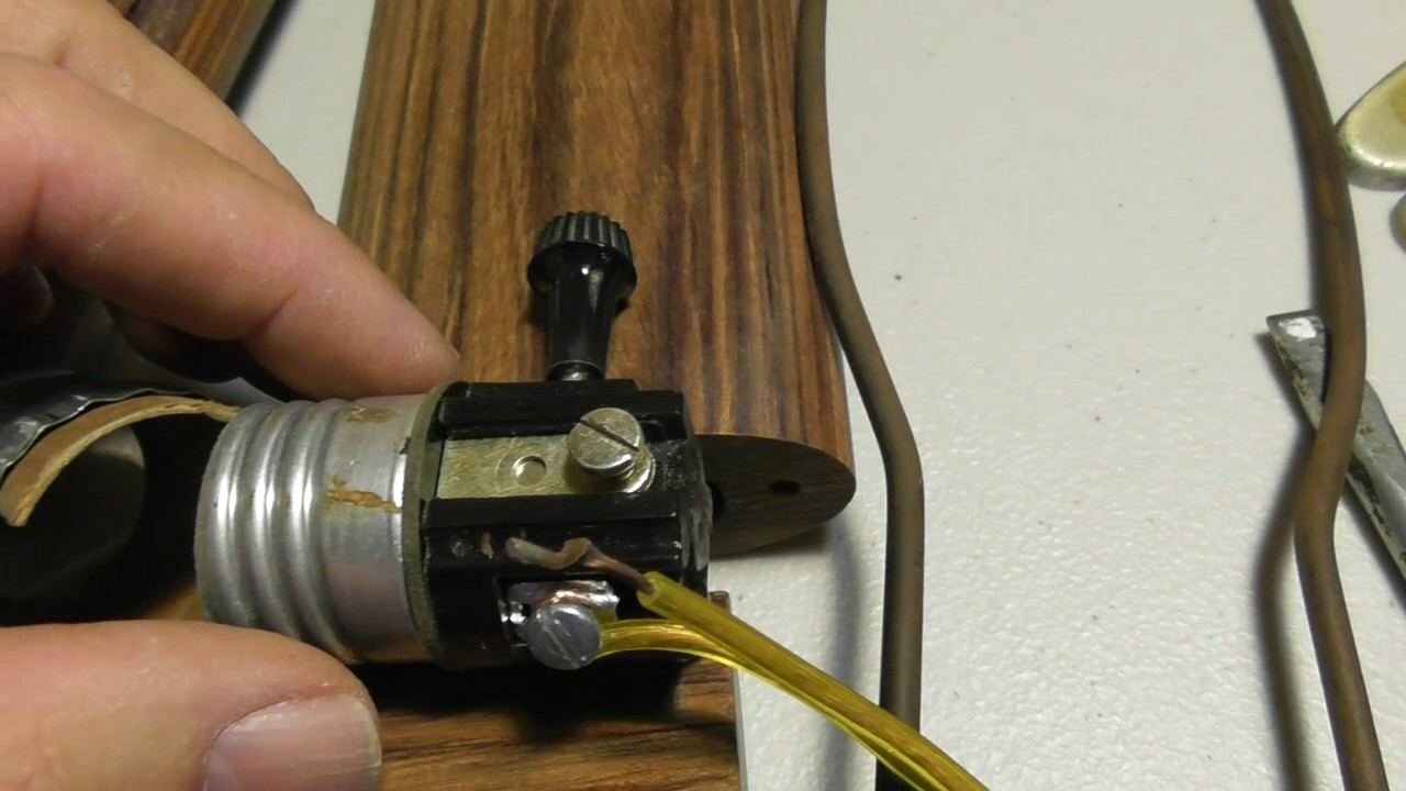 how to rewire a lamp replace lamp socket rewire lamp cord repair fix wiring a plug [ 1280 x 720 Pixel ]